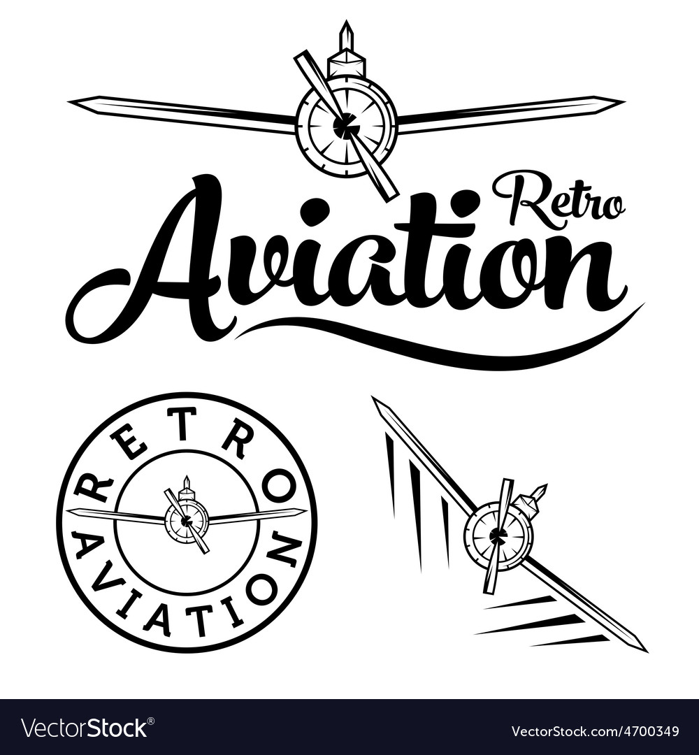Retro aviation label vector | Price: 1 Credit (USD $1)
