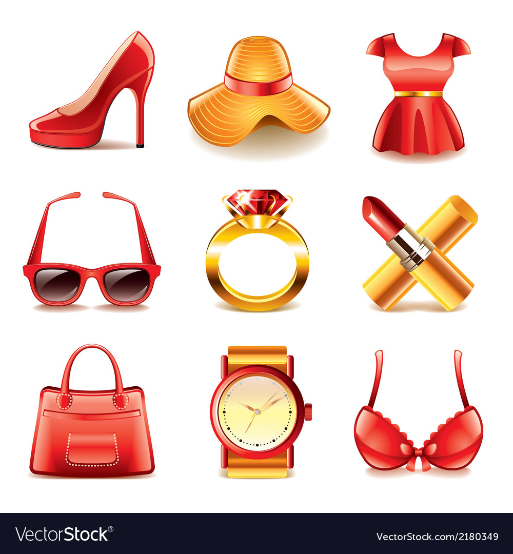 Set fashion vector | Price: 1 Credit (USD $1)