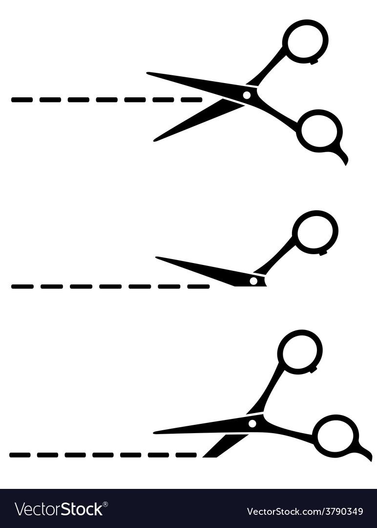 Set of cutting scissors vector | Price: 1 Credit (USD $1)