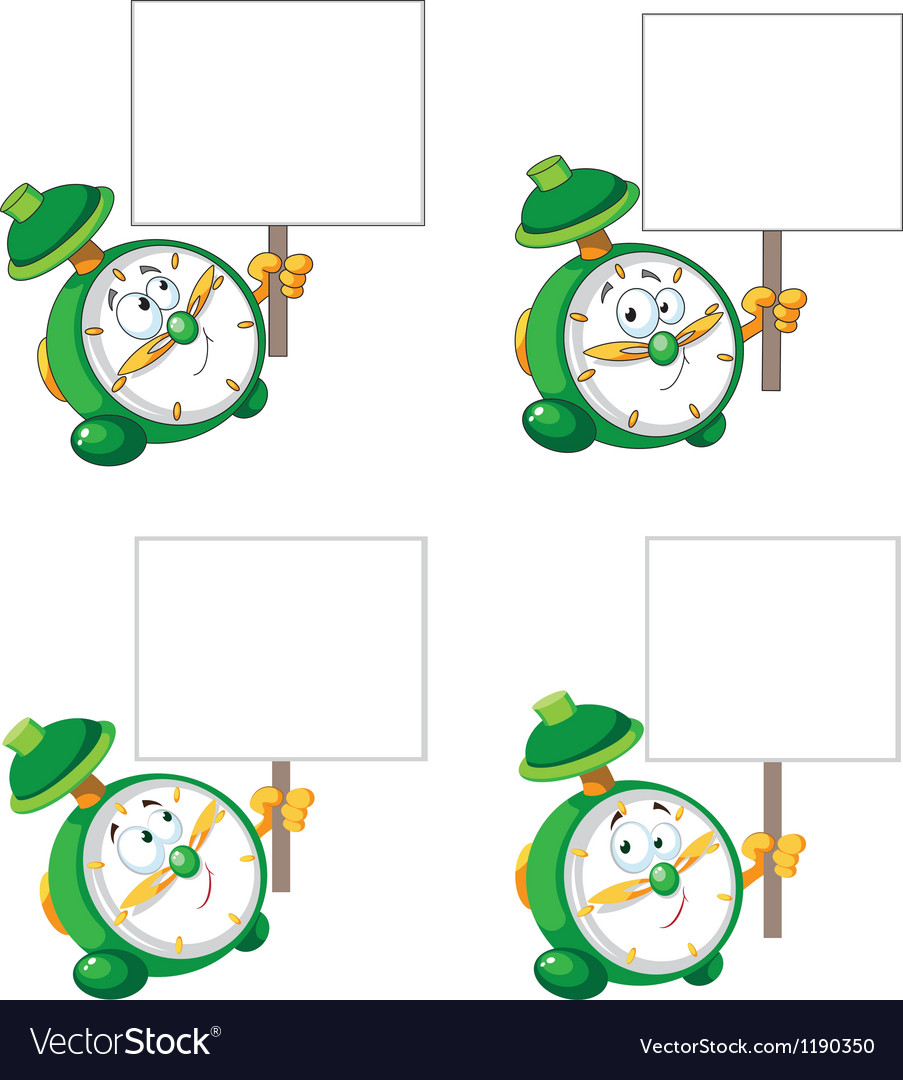 Alarm clock with blank sign vector | Price: 3 Credit (USD $3)