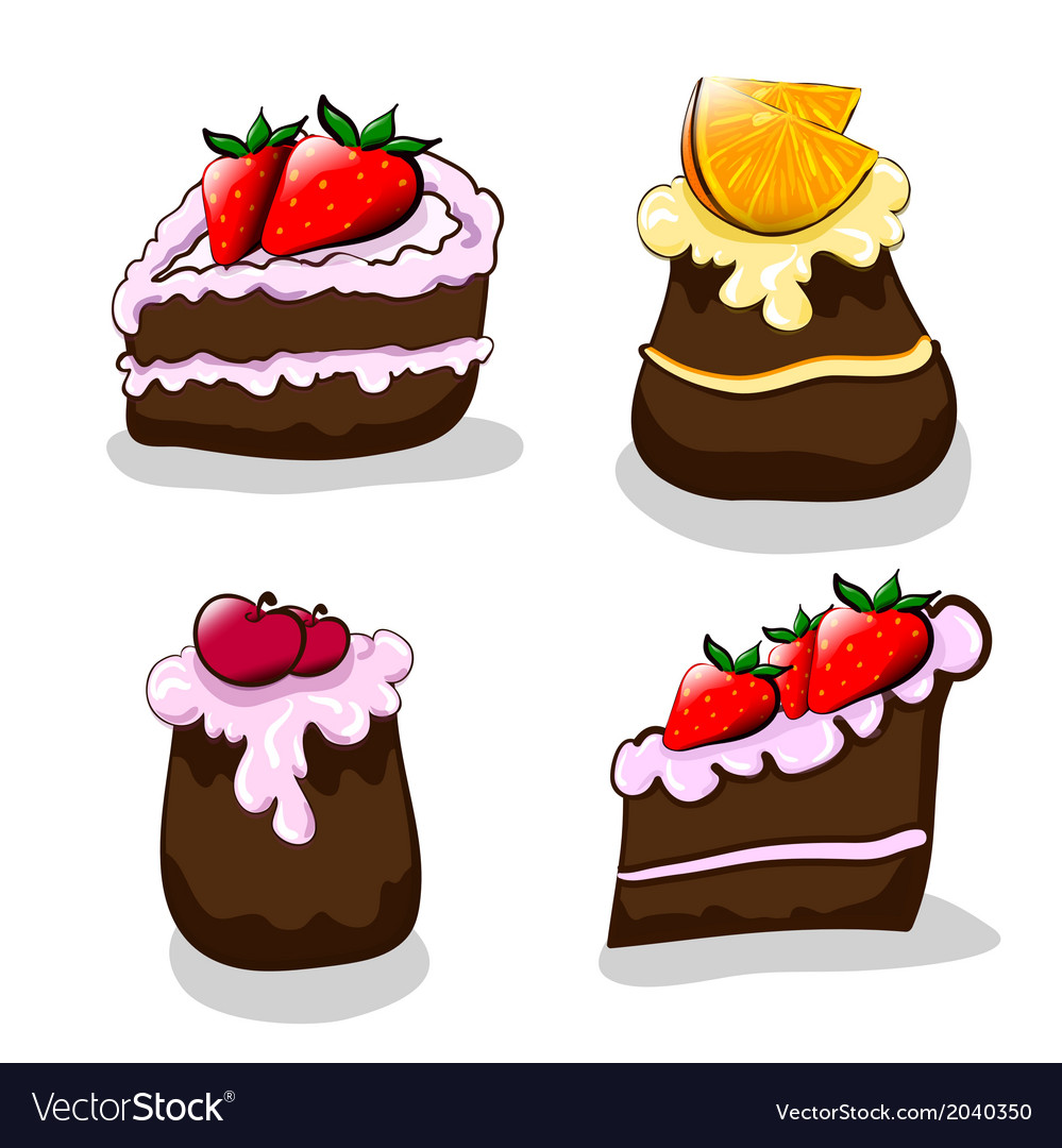 Cartoon cakes vector | Price: 1 Credit (USD $1)