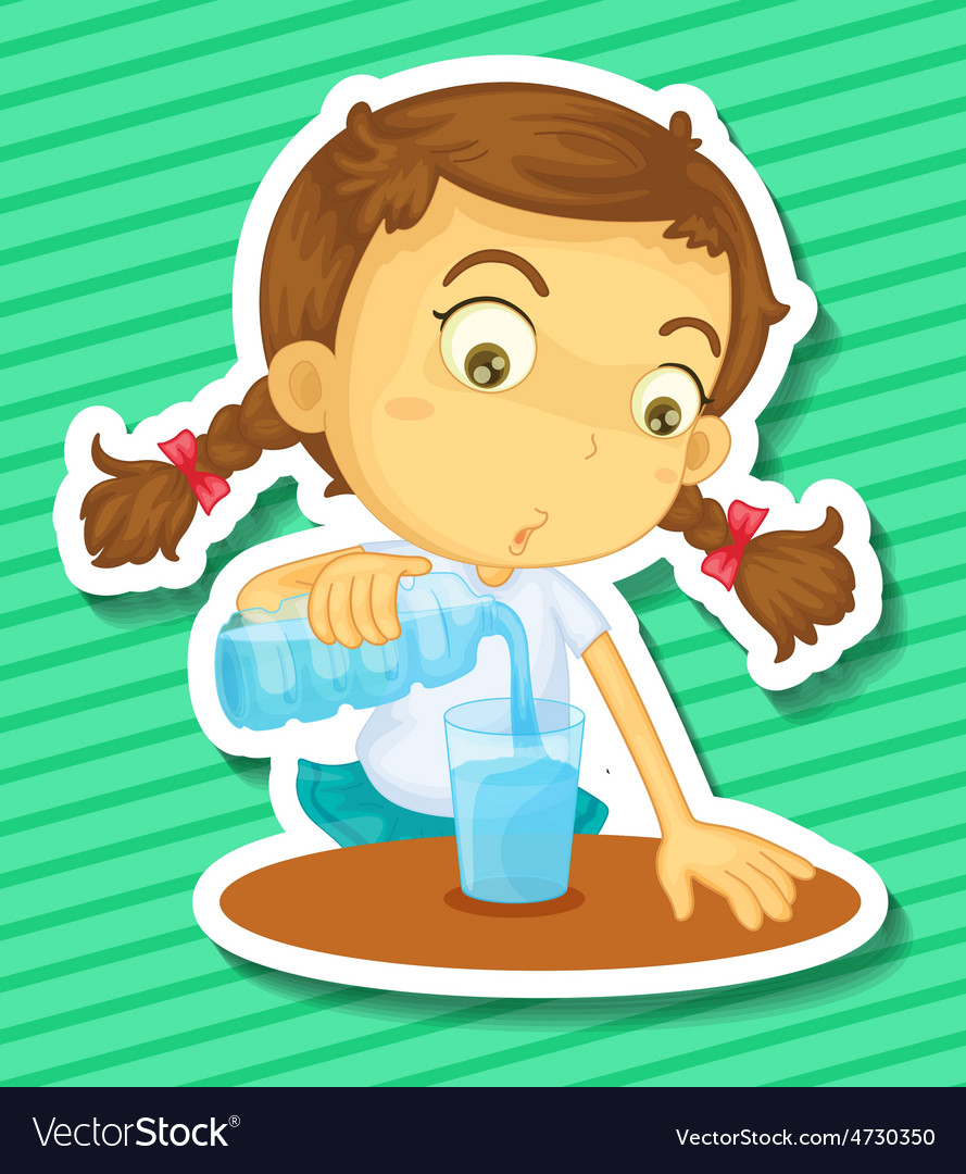 Drinking water vector | Price: 1 Credit (USD $1)