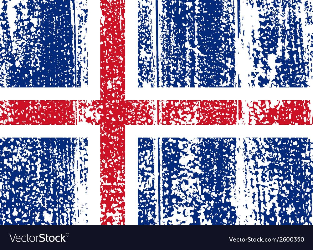 Icelandic grunge flag vector | Price: 1 Credit (USD $1)