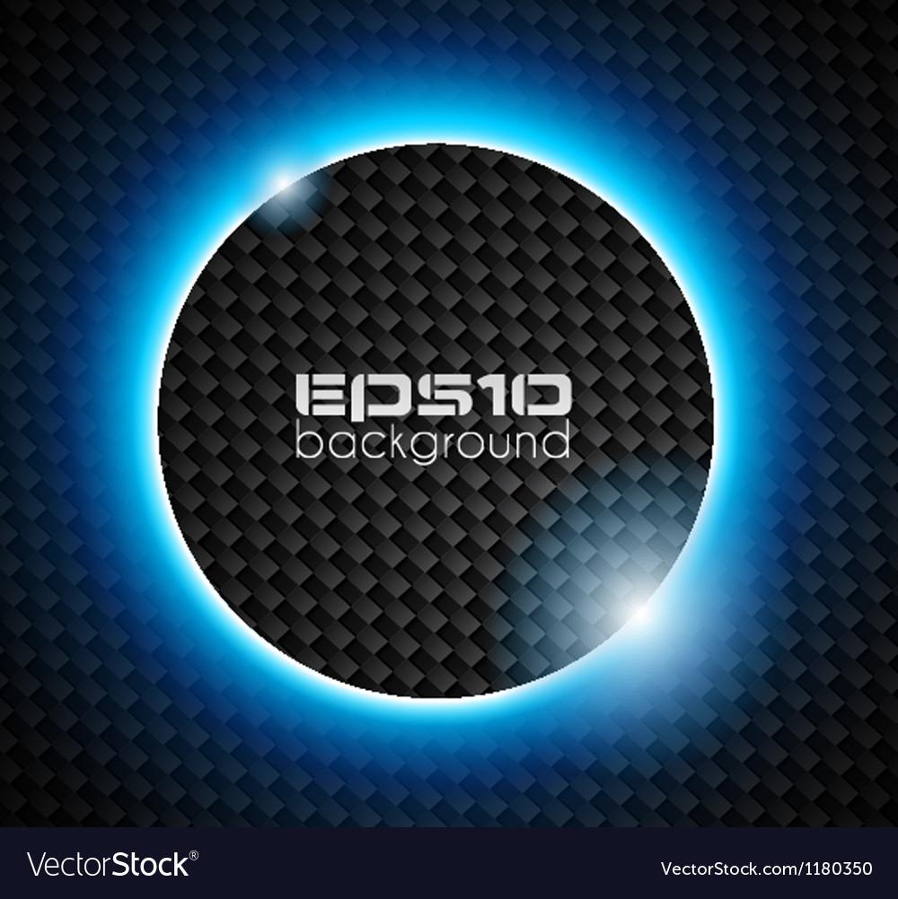 Light sphere over carbon look backgroud vector