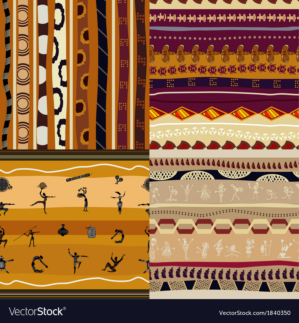 Set of seamless textures of african vector   Price: 1 Credit (USD $1)