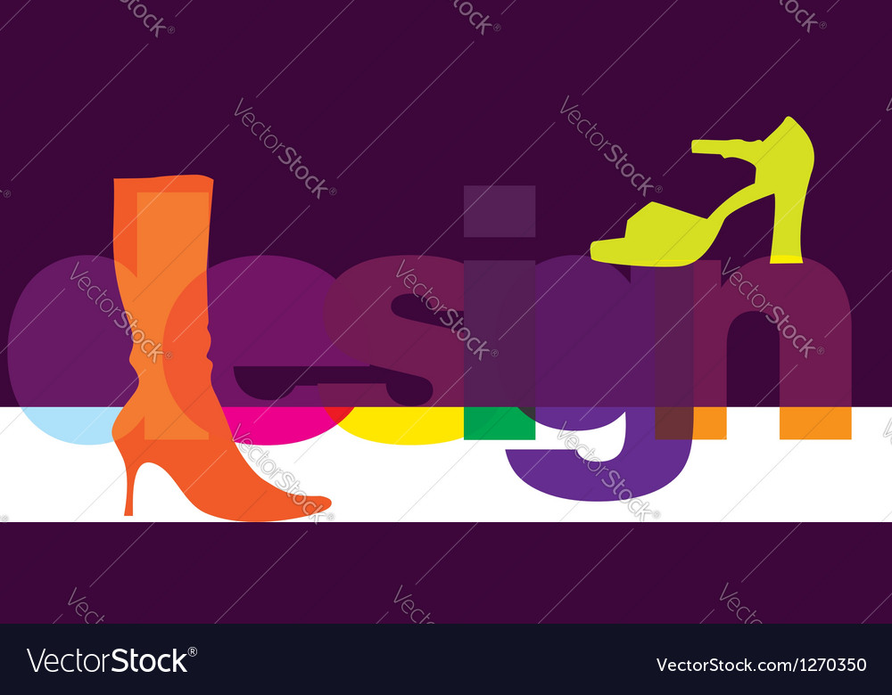 Shoes design vector | Price: 1 Credit (USD $1)