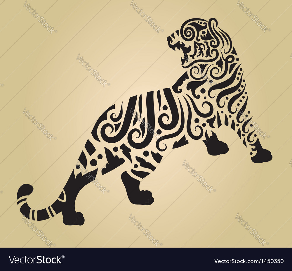 Tiger ornament decoration 2 vector | Price: 1 Credit (USD $1)