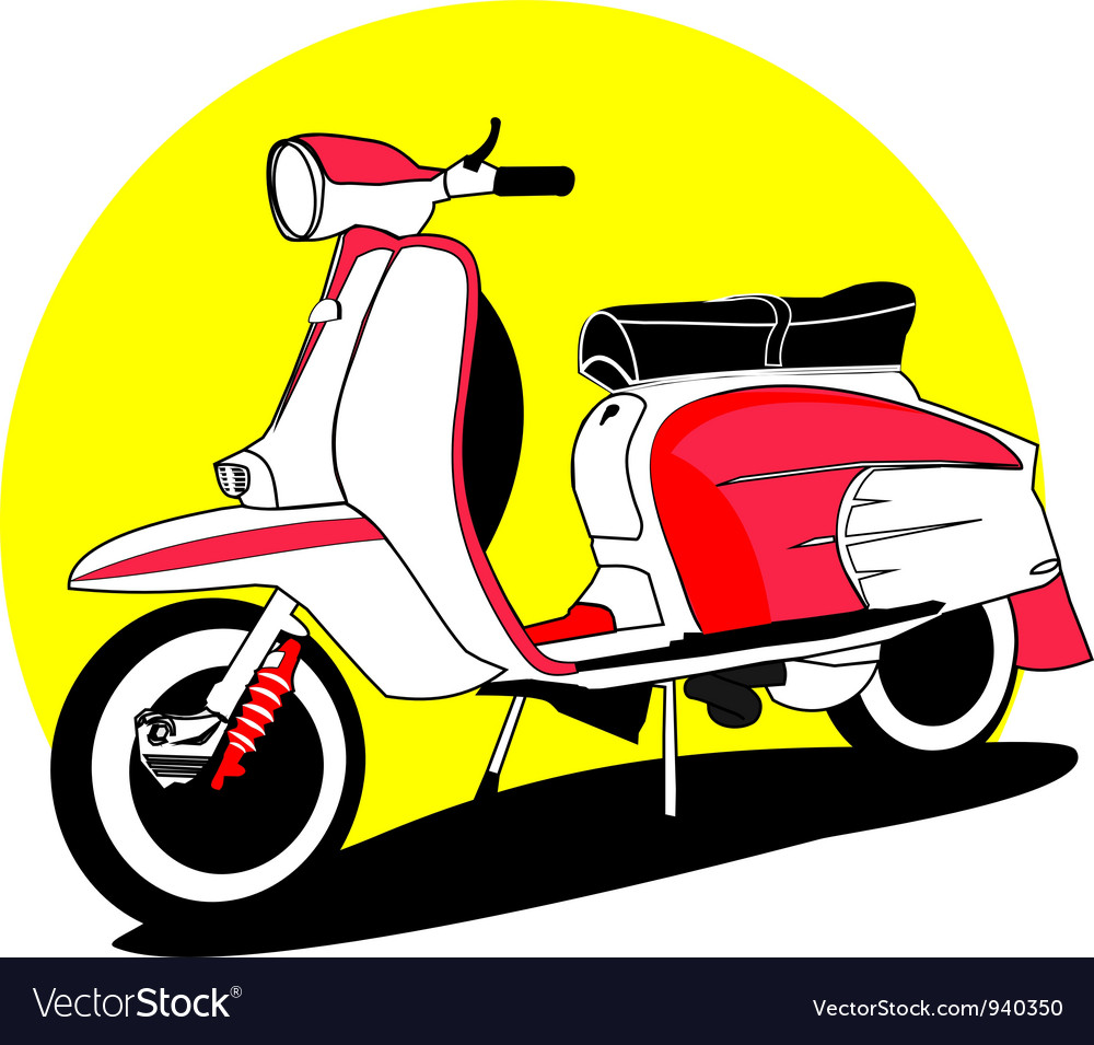 Vintage scooters vector | Price: 1 Credit (USD $1)