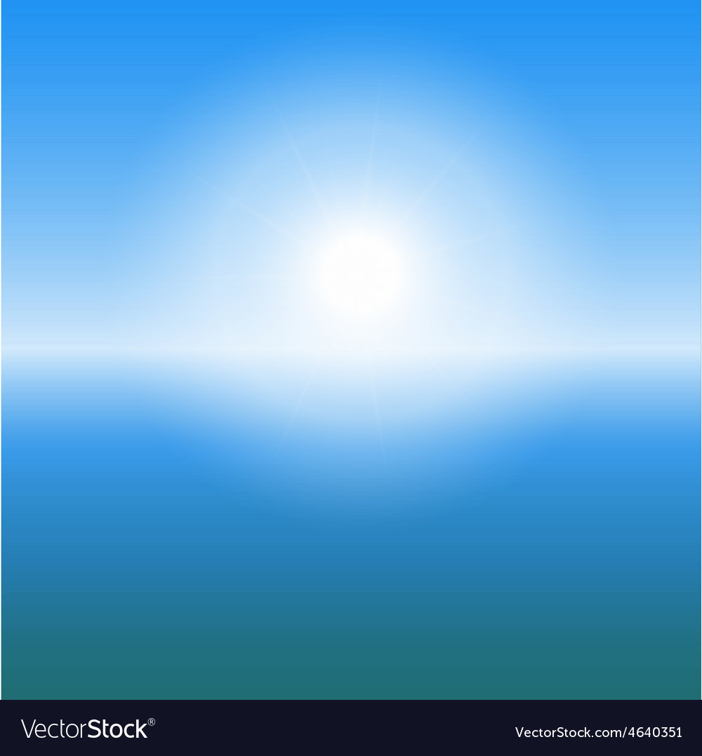 Abstract sunrise over the sea with copy space vector | Price: 1 Credit (USD $1)
