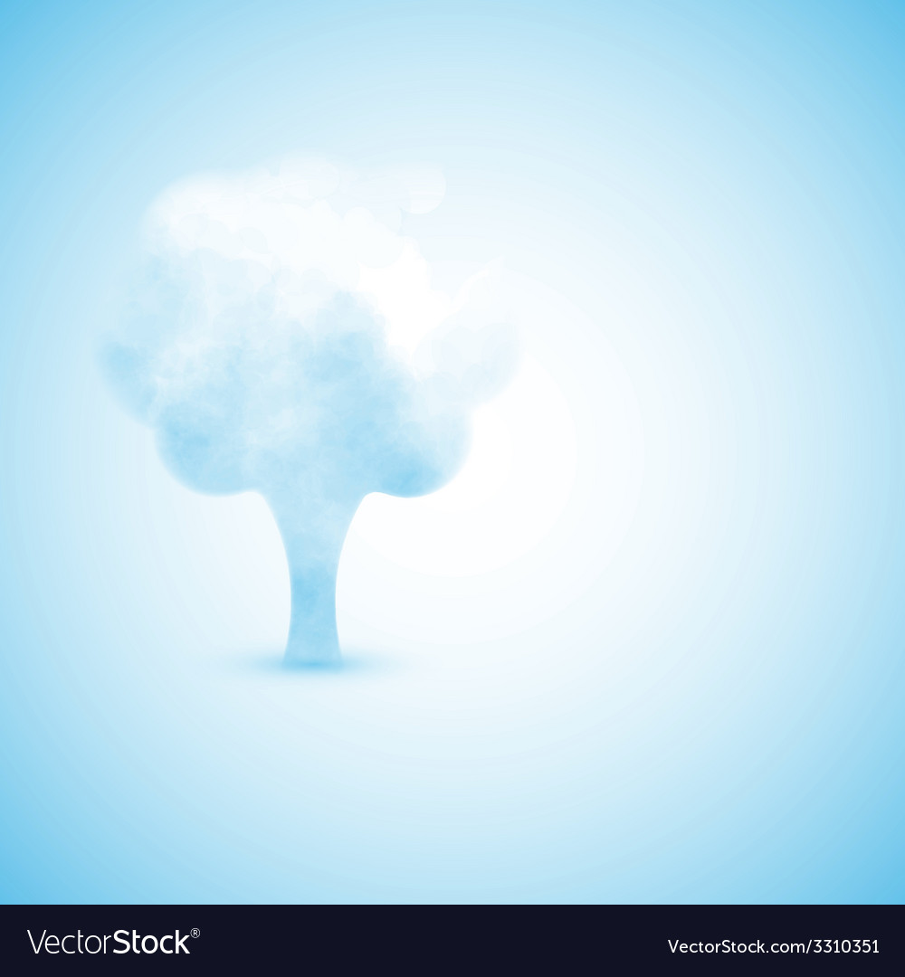 Cloud in the form of a tree vector | Price: 1 Credit (USD $1)