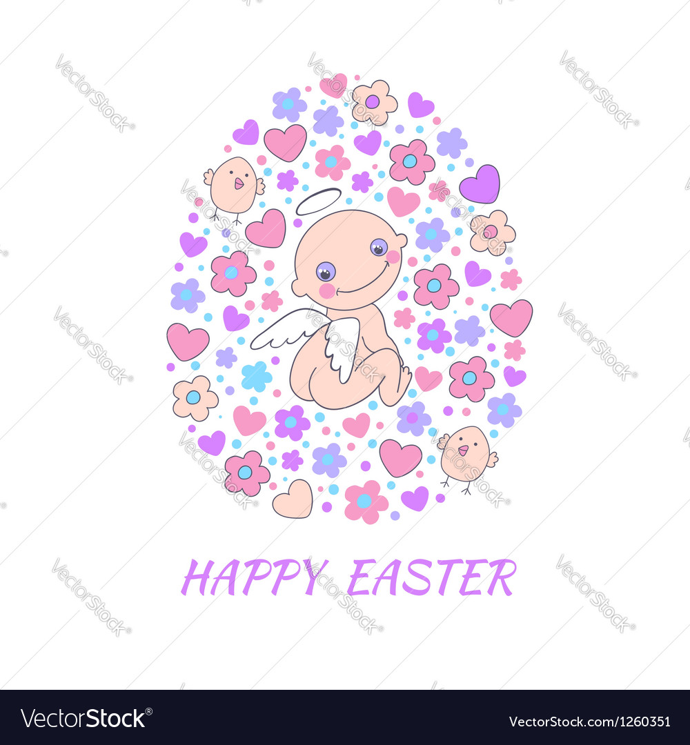 Easter concept card vector | Price: 1 Credit (USD $1)