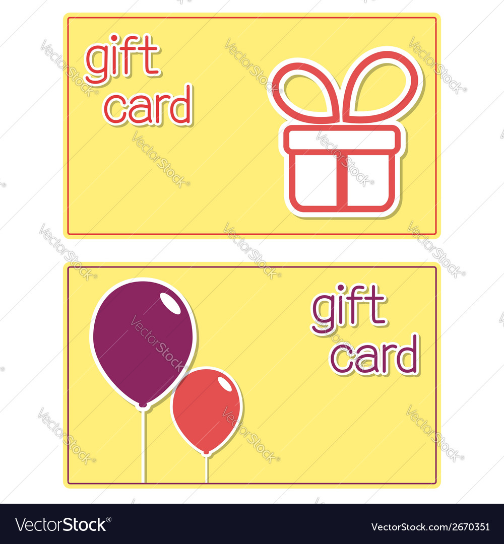 Gift card templates vector | Price: 1 Credit (USD $1)