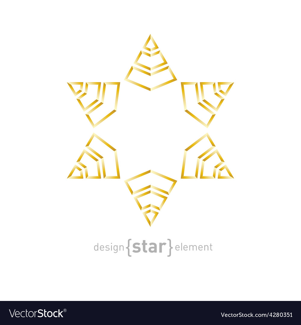 Golden star on white background vector | Price: 1 Credit (USD $1)