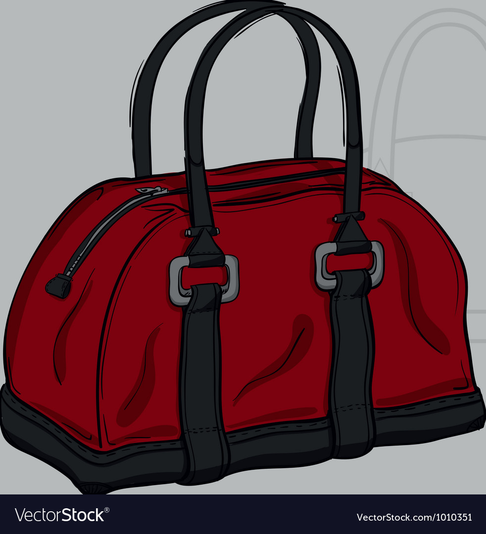 Handbag burgundy with gray inserts vector | Price: 1 Credit (USD $1)