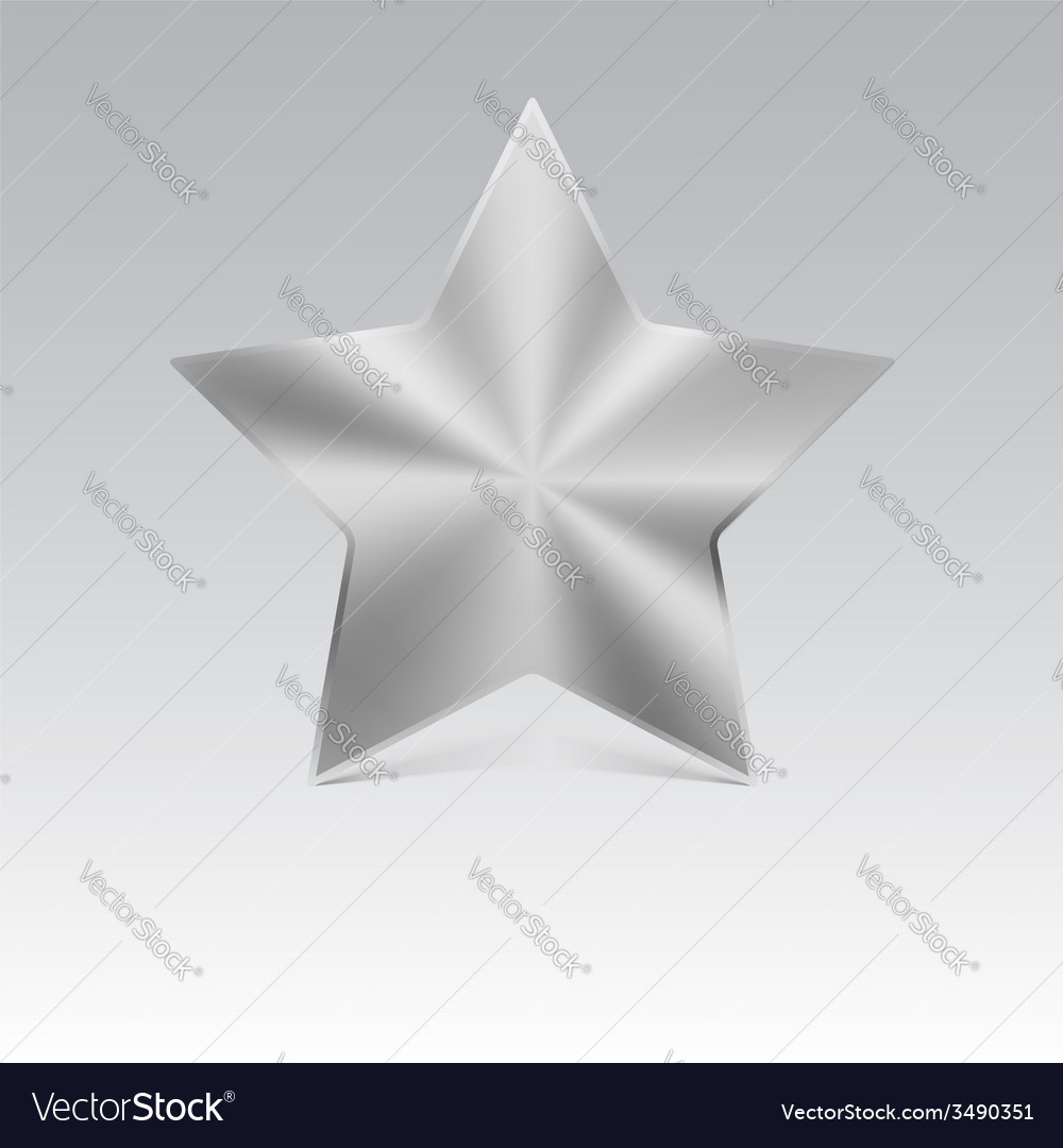 Metal star silver vector | Price: 1 Credit (USD $1)