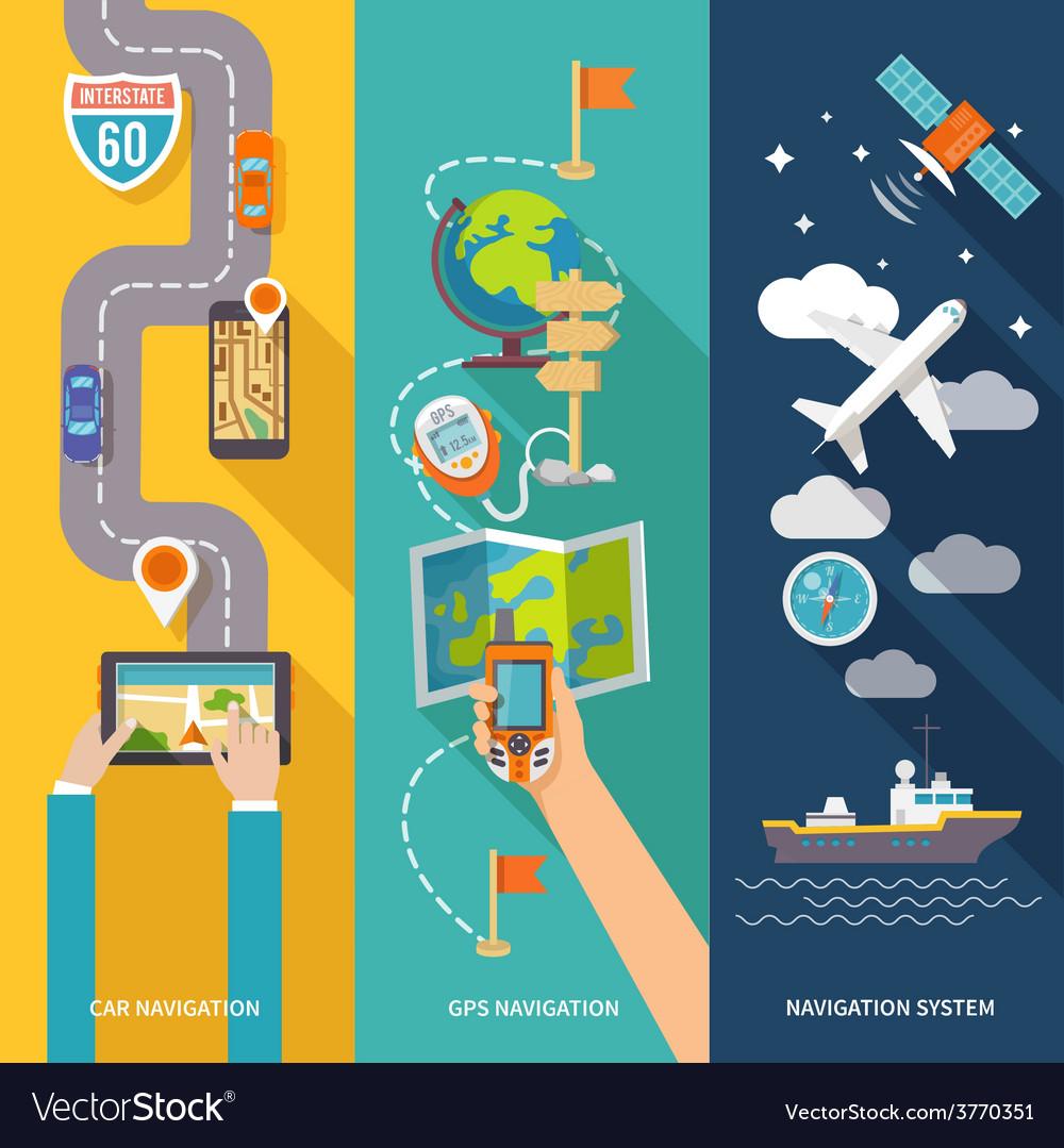 Navigation banner set vector   Price: 1 Credit (USD $1)