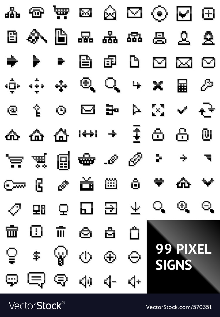 Pixel web icons vector | Price: 1 Credit (USD $1)