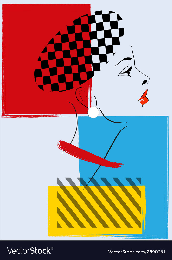 Pop art retro woman vector | Price: 1 Credit (USD $1)