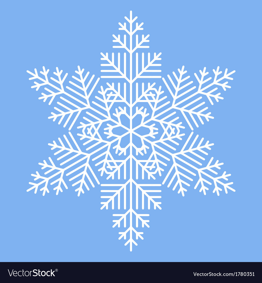 Simple white snowflake vector | Price: 1 Credit (USD $1)