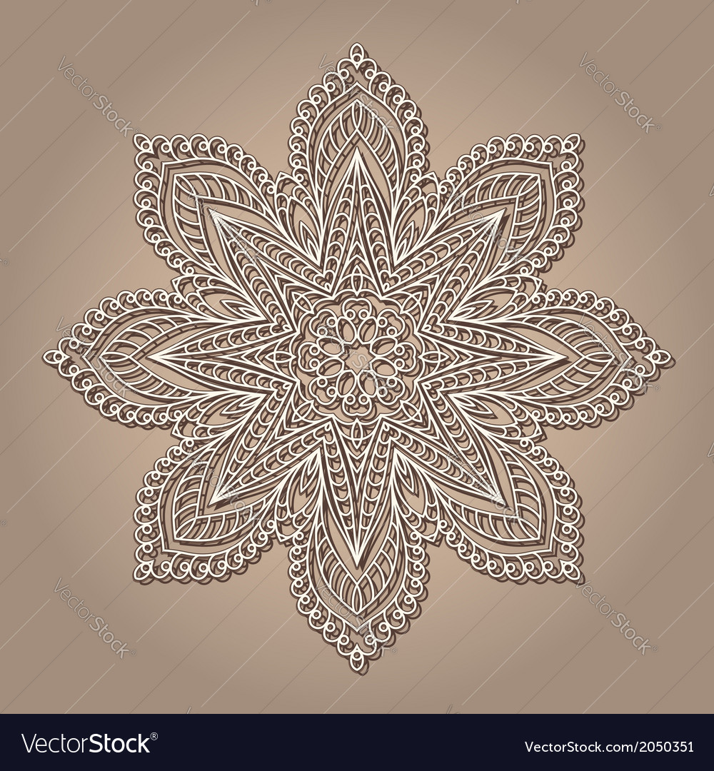 Vintage lace doily vector | Price: 1 Credit (USD $1)