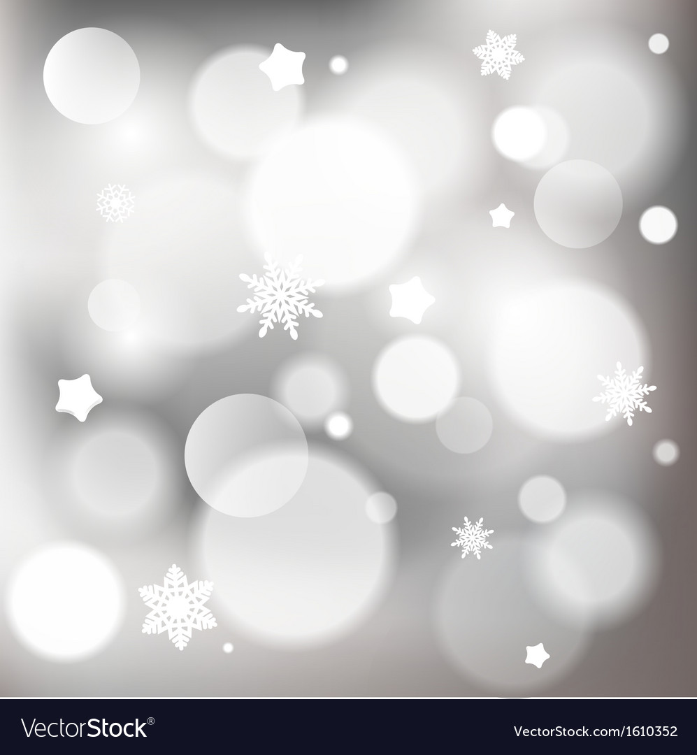 Abstract christmas background with shiny bokeh vector | Price: 1 Credit (USD $1)