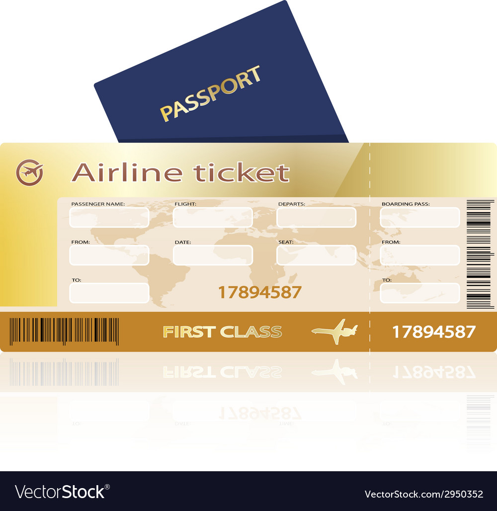 Air ticket golden vector | Price: 1 Credit (USD $1)