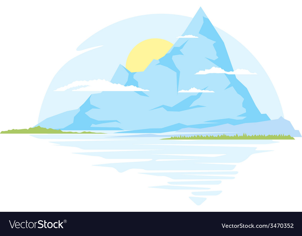 Big mountains vector | Price: 1 Credit (USD $1)