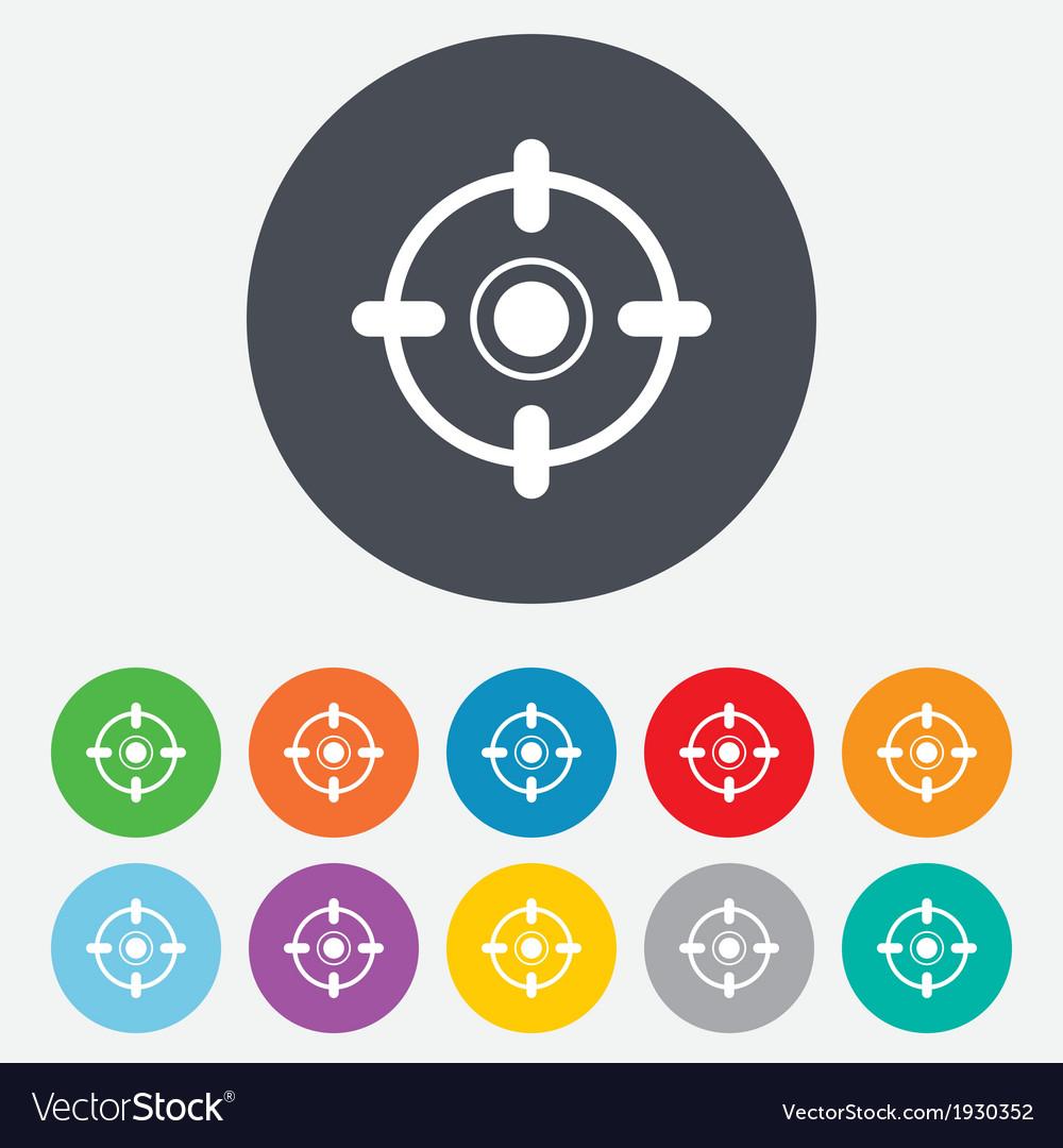 Crosshair sign icon target aim symbol vector | Price: 1 Credit (USD $1)