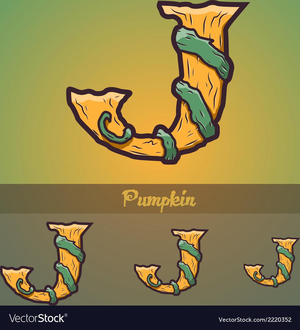 Halloween decorative alphabet - j letter vector   Price: 1 Credit (USD $1)