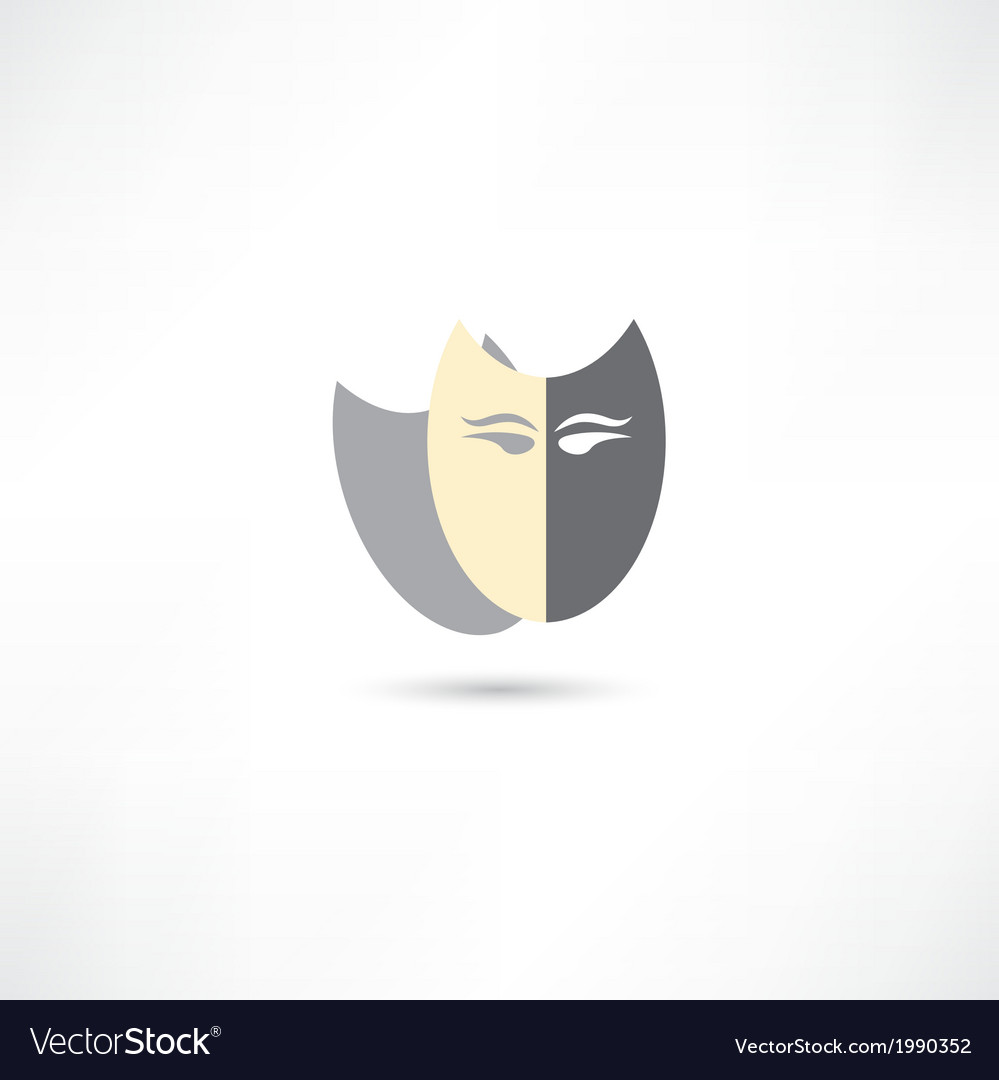 Mask icon vector | Price: 1 Credit (USD $1)