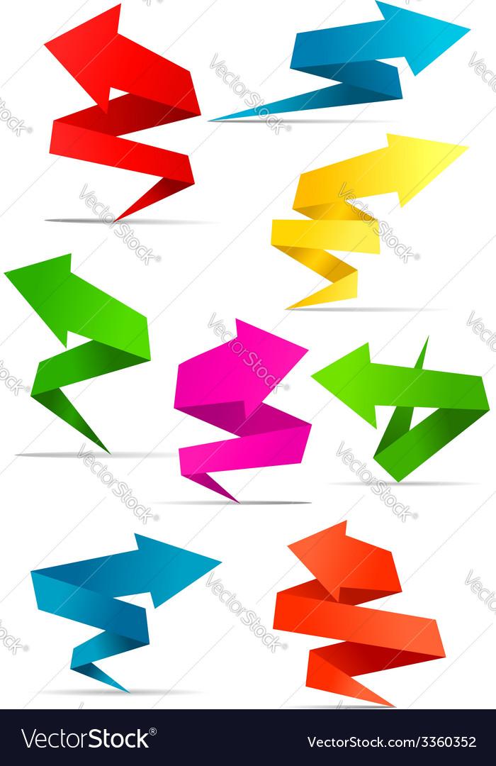 Origami arrow banners vector | Price: 1 Credit (USD $1)