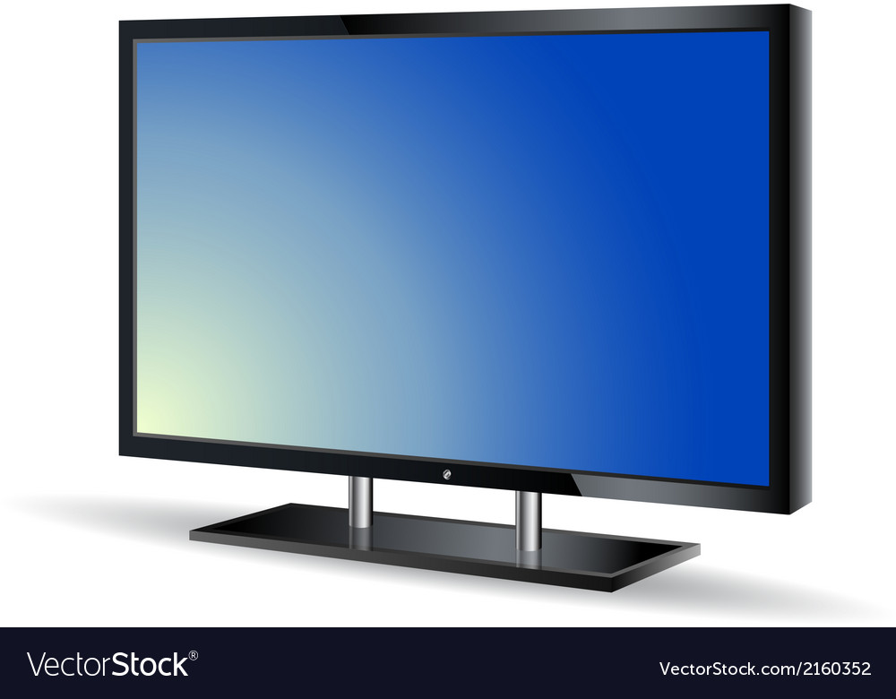 Realistic monitor vector | Price: 1 Credit (USD $1)