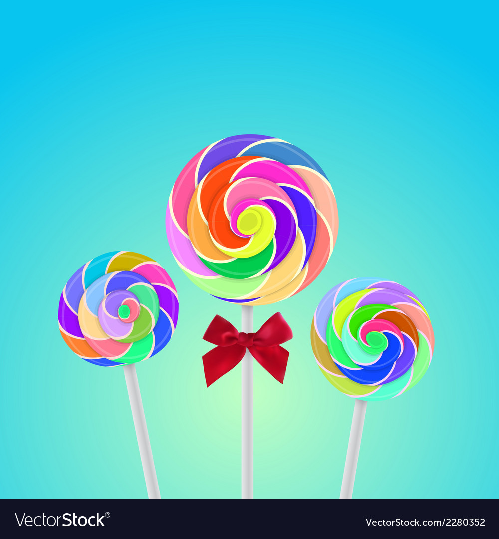 Rollipop candy colorful with background vector | Price: 1 Credit (USD $1)