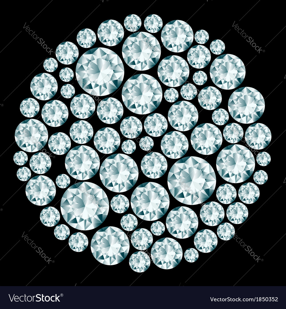 Round decorative diamond composition vector | Price: 1 Credit (USD $1)