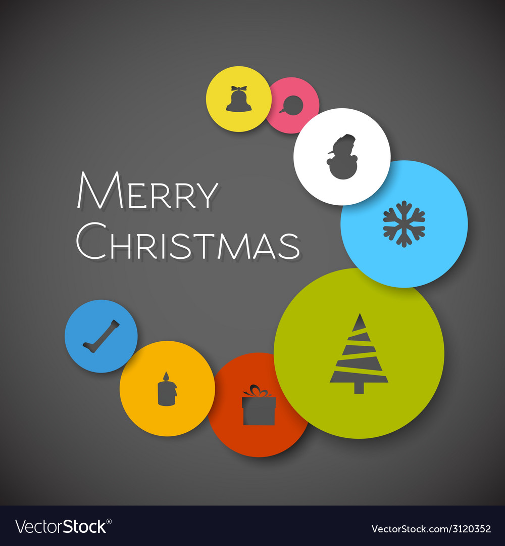 Simple modern minimalistic christmas card vector | Price: 1 Credit (USD $1)