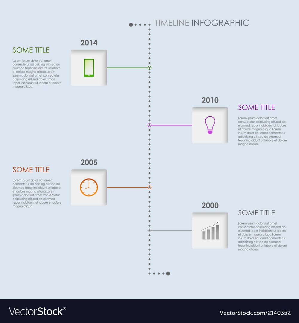 Time line info graphic elements template vector | Price: 1 Credit (USD $1)
