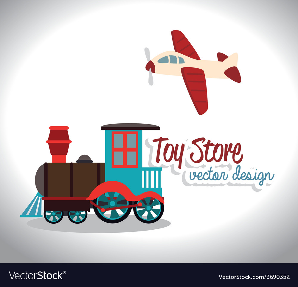 Toys design over white background vector | Price: 1 Credit (USD $1)
