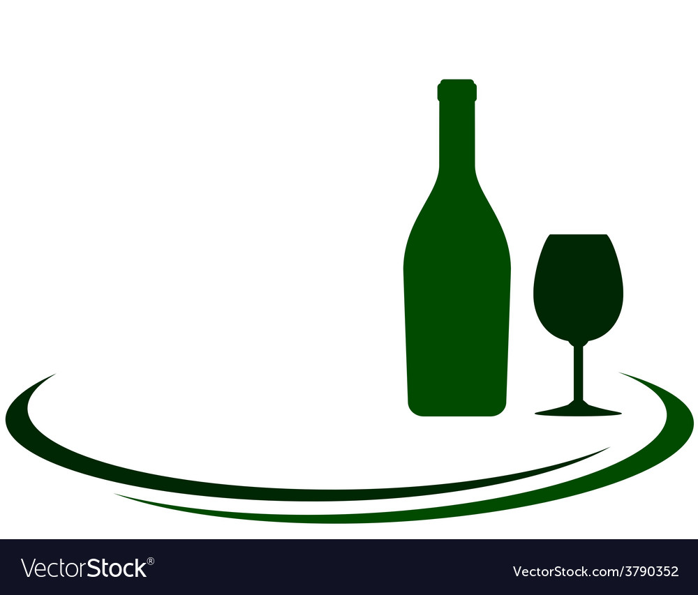 White wine bottle and glass background vector | Price: 1 Credit (USD $1)