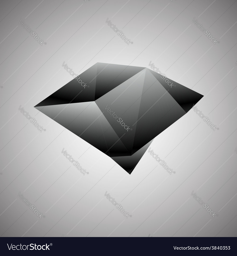 Abstract creative concept icon of black diamond vector | Price: 1 Credit (USD $1)