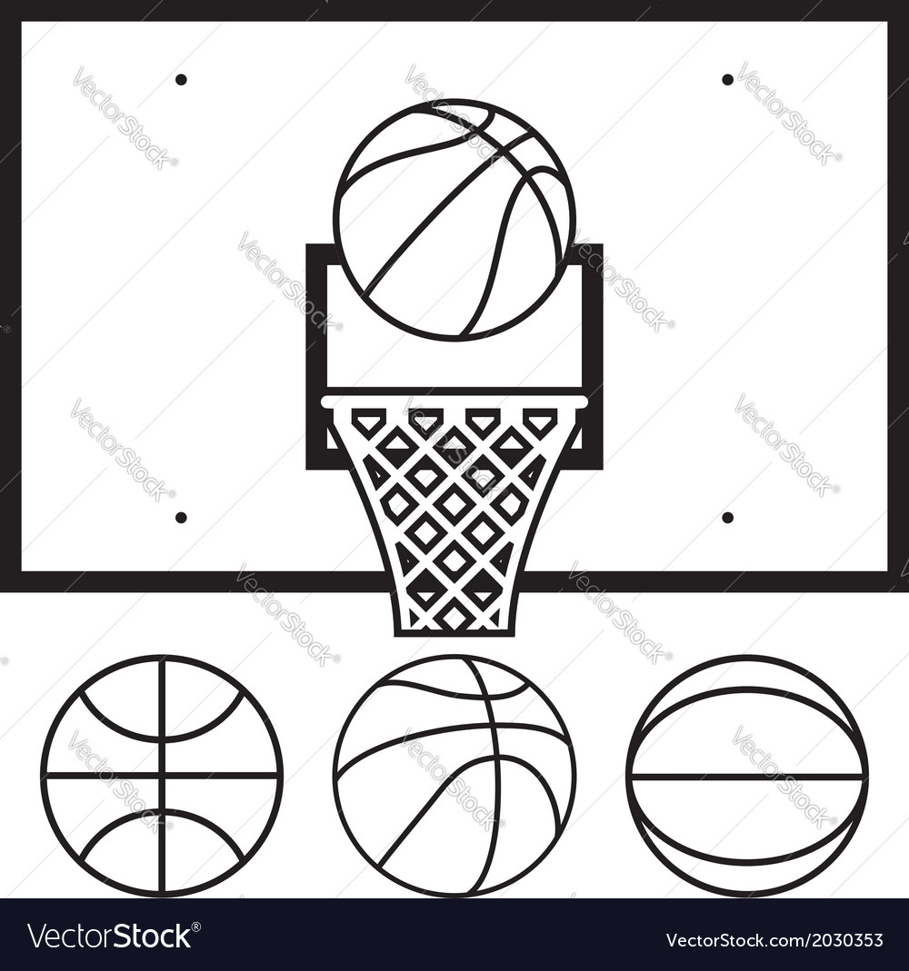 Basketball symbols vector | Price: 1 Credit (USD $1)