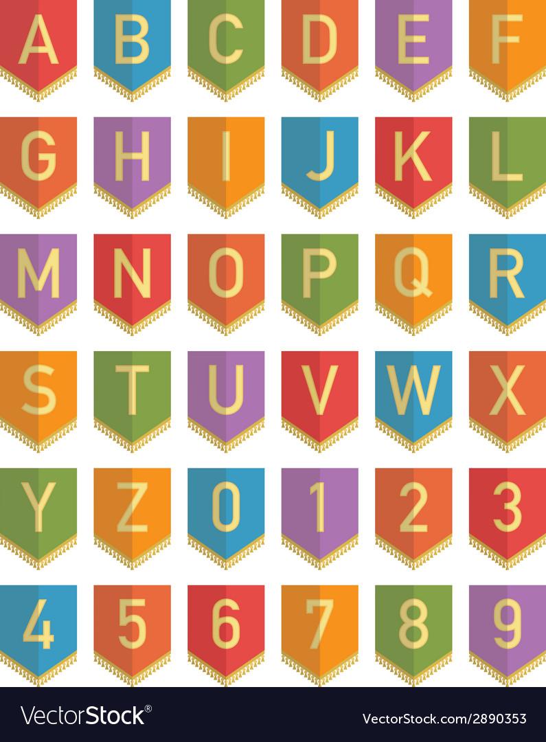 Bunting alphabet vector | Price: 1 Credit (USD $1)
