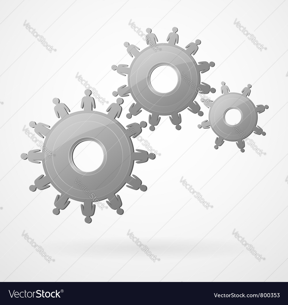 Creative team mechanism vector | Price: 1 Credit (USD $1)