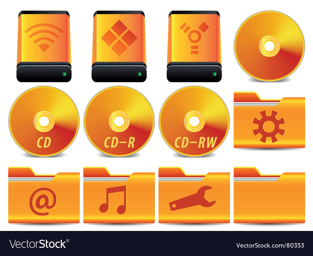 Gold icon set 1 of vector | Price: 1 Credit (USD $1)