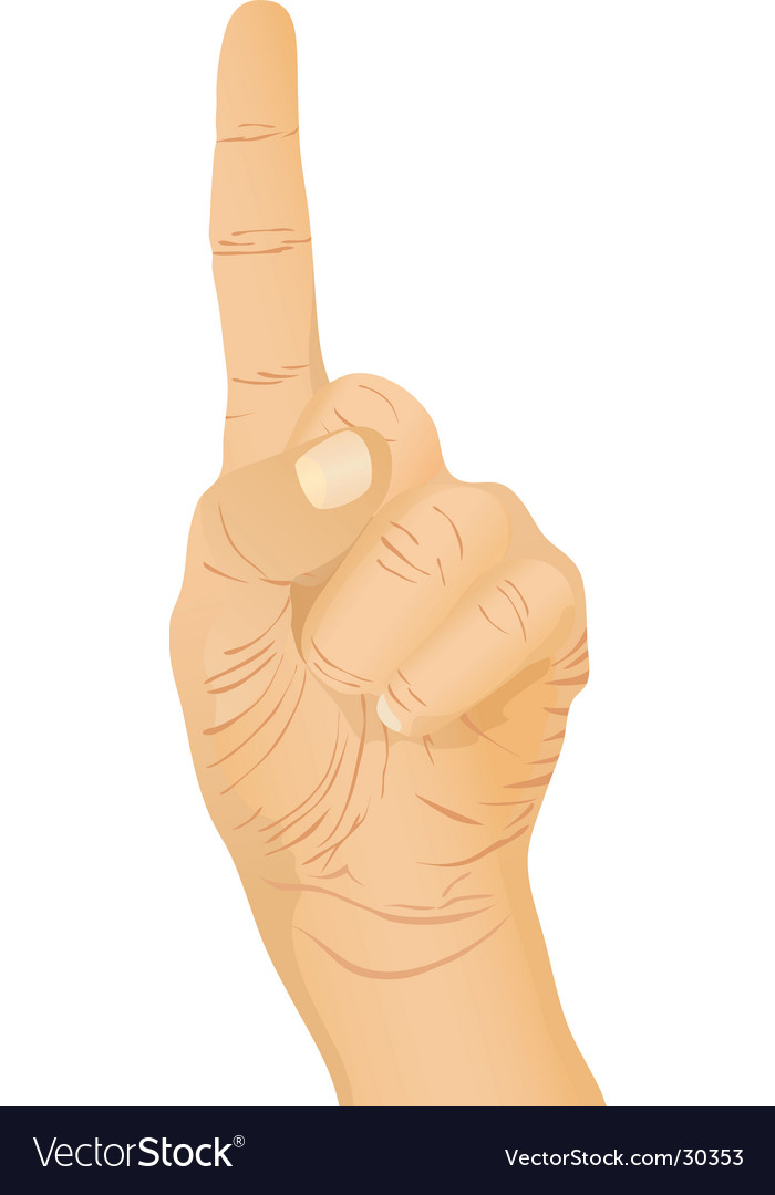 Hand gesture pointing vector | Price: 1 Credit (USD $1)