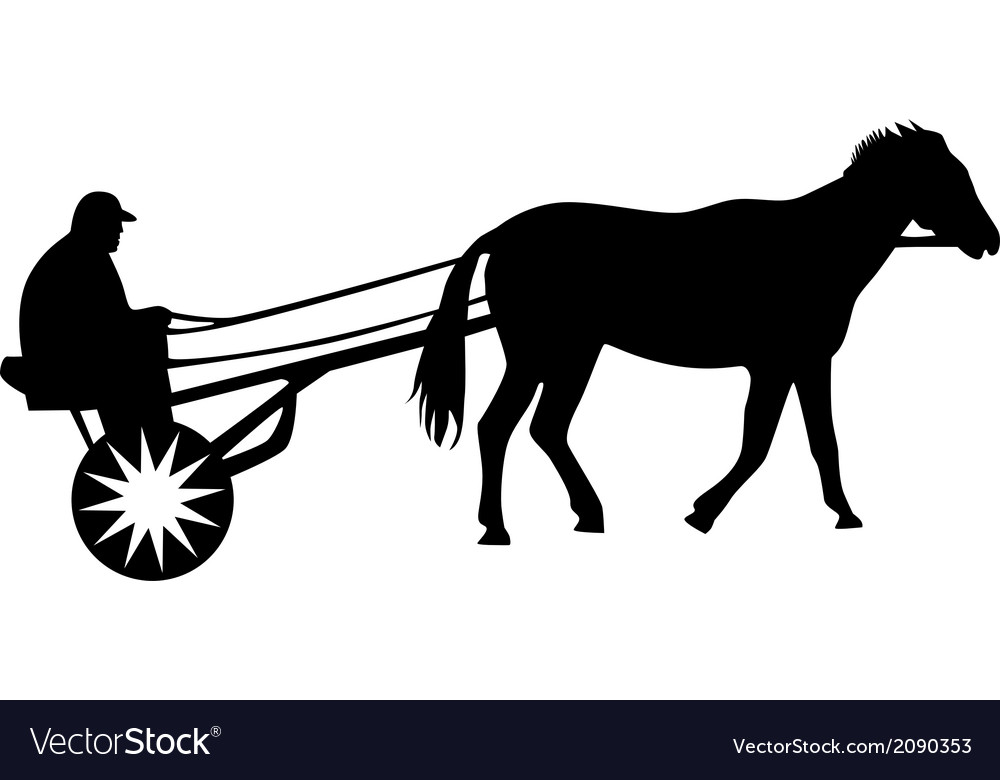 Man and horse vector | Price: 1 Credit (USD $1)
