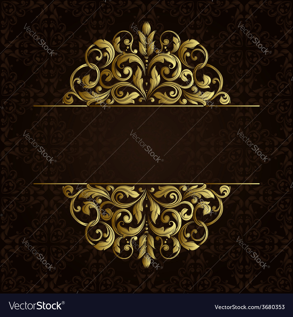 Ornate gold border vector | Price: 1 Credit (USD $1)