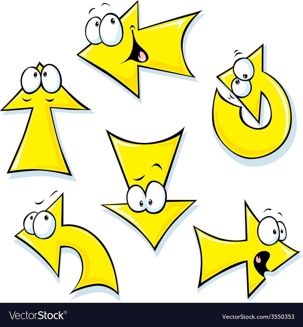 Set of cartoon arrows vector   Price: 1 Credit (USD $1)