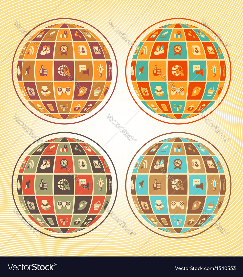 Sphere of social networking vector | Price: 1 Credit (USD $1)
