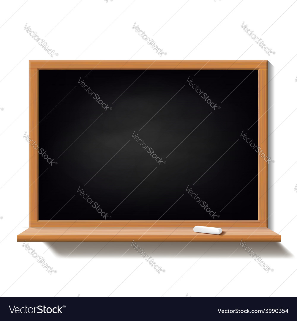 Black school board isolated on white background vector | Price: 1 Credit (USD $1)