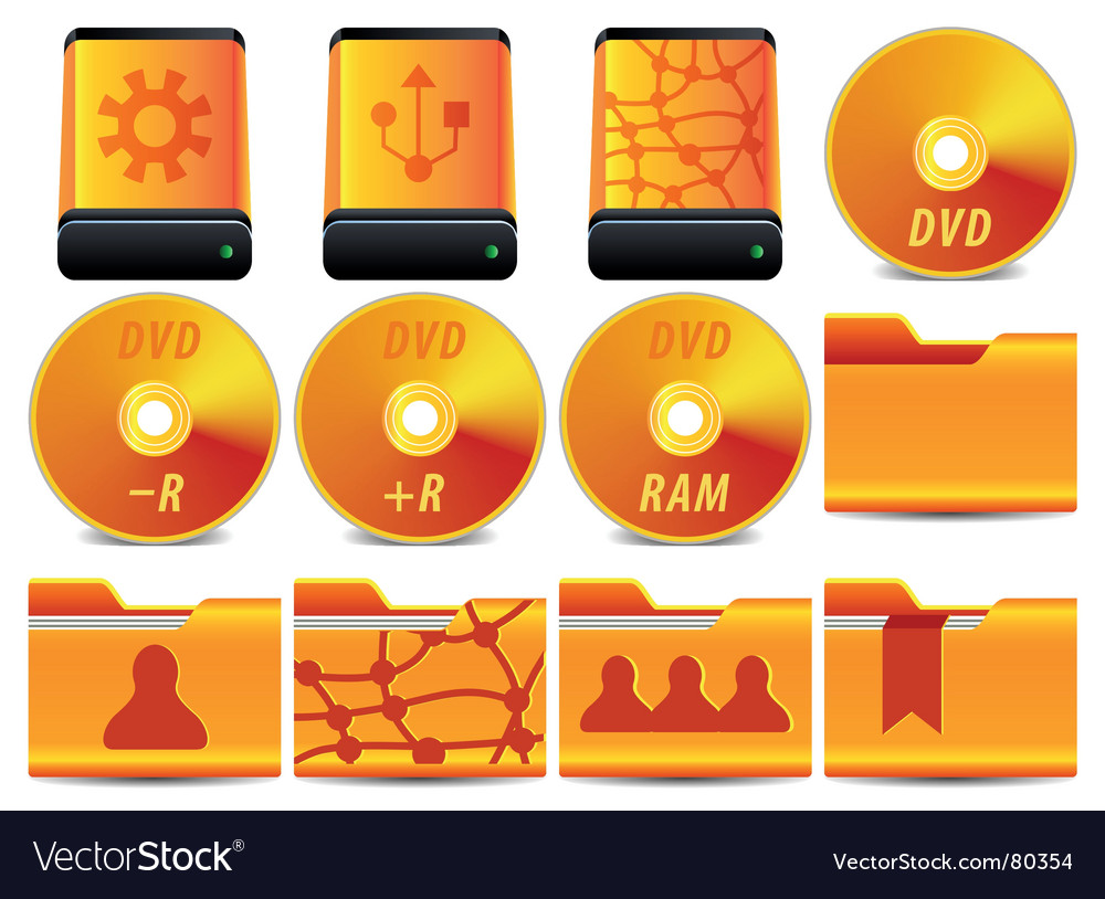 Dvd icons vector | Price: 1 Credit (USD $1)